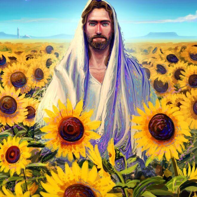 Jesus girasoles